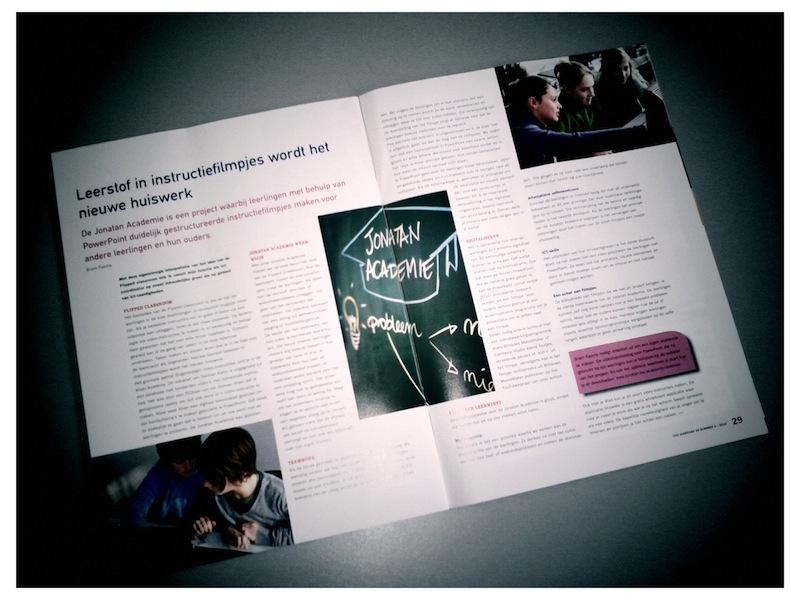 Jonatan Academie in COS magazine
